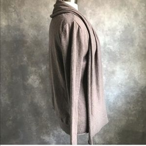 BB Dakota Sweaters - BB Dakota Brown Drape Open Long Cardigan Slouchy L